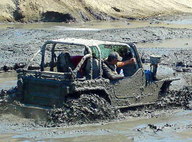 4X4 off road jeep in the mud