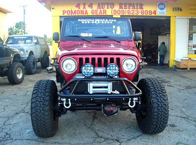 4X4 off road jeep at the shop